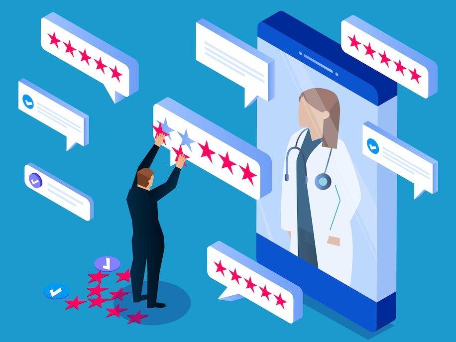 Fake patient reviews